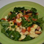 Letní zelený salát s blumou